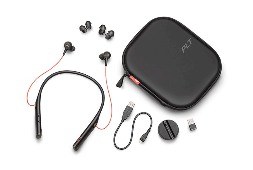 Plantronics VOYAGER 6200 UC - Bluetooth Headset with BT600 UC USB Dongle & Carry Case (Black)